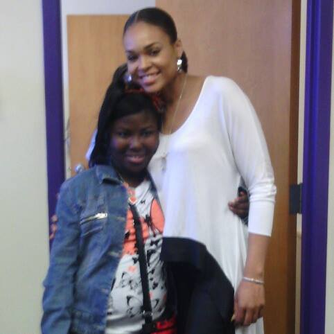 Zakyla Suiters and Demetria McKinney at Everman High School