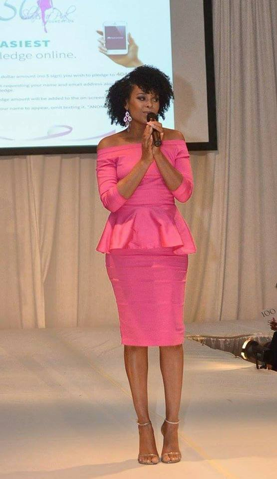 "Demetria McKinney performs at the 4th Annual ""50 Shades of Pink"" Charity Fashion Show"
