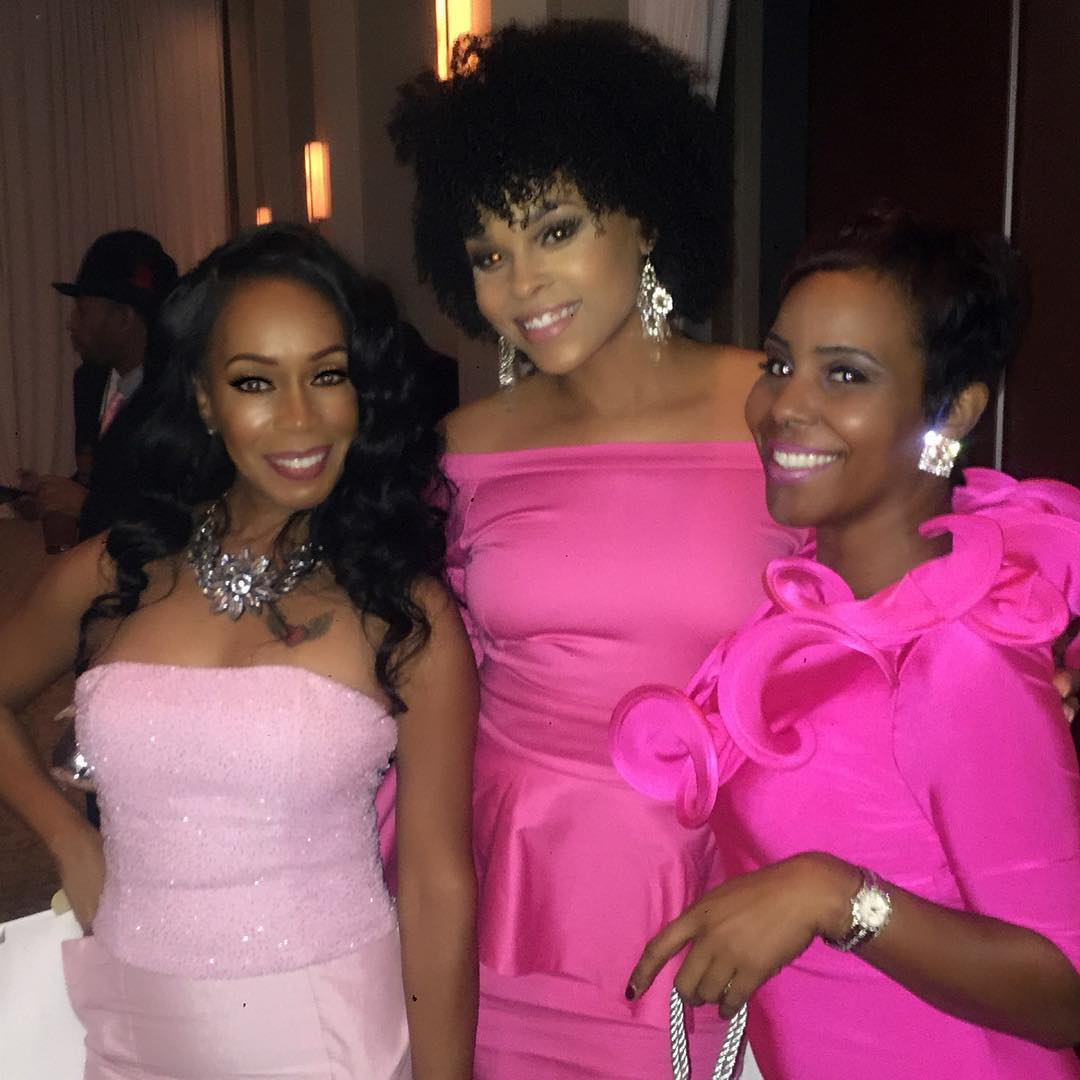 "Deborah Jennings, Demetria McKinney and Shay McCray attend the 4th Annual ""50 Shades of Pink"" Charity Fashion Show"