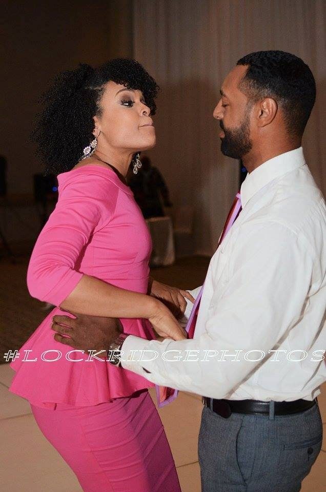 "Demetria McKinney and Eric Phillips attend the 4th Annual ""50 Shades of Pink"" Charity Fashion Show"