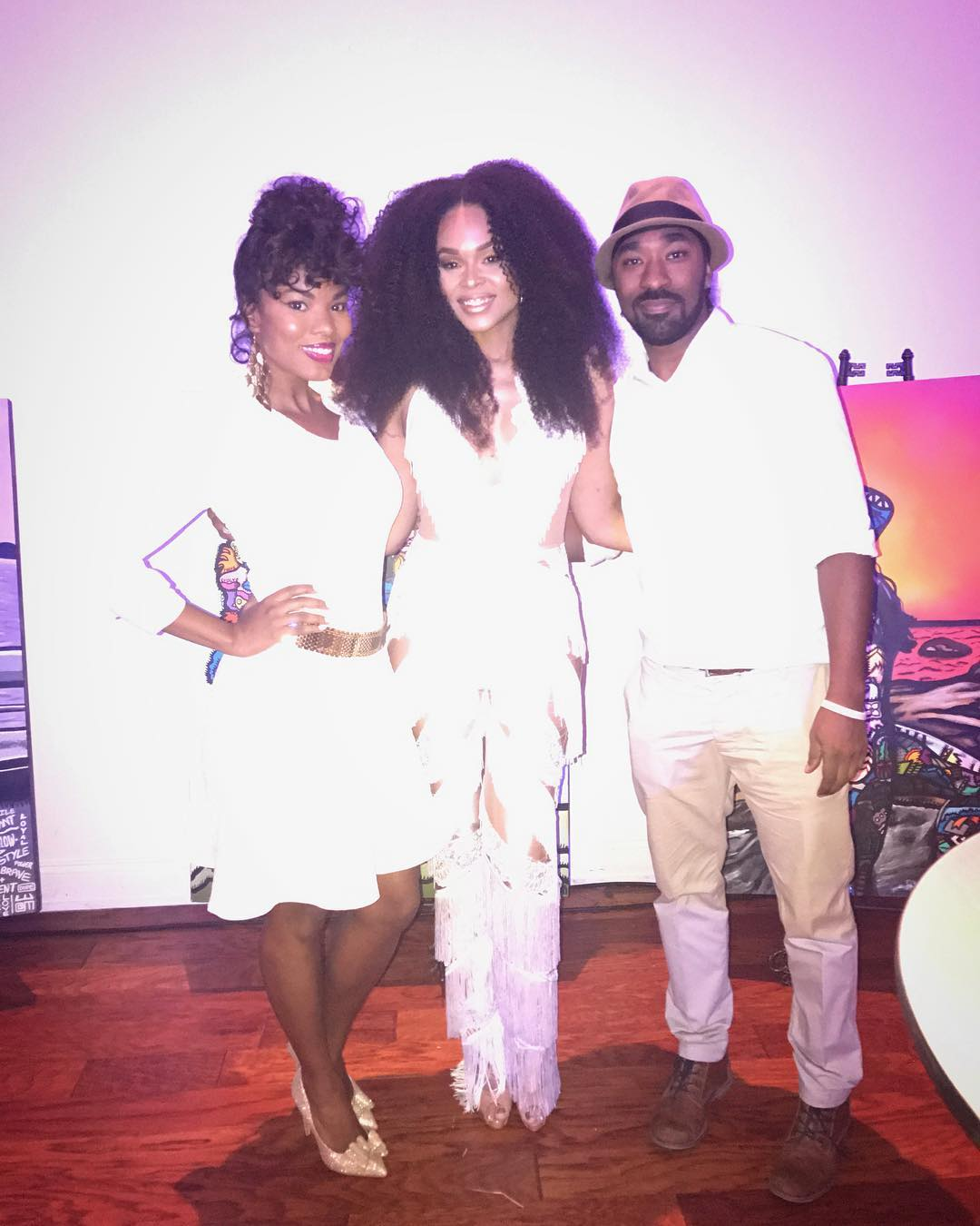 "Demetria McKinney and Alloyius Mcilwaine on set of her music video ""Easy"" on December 19, 2016"