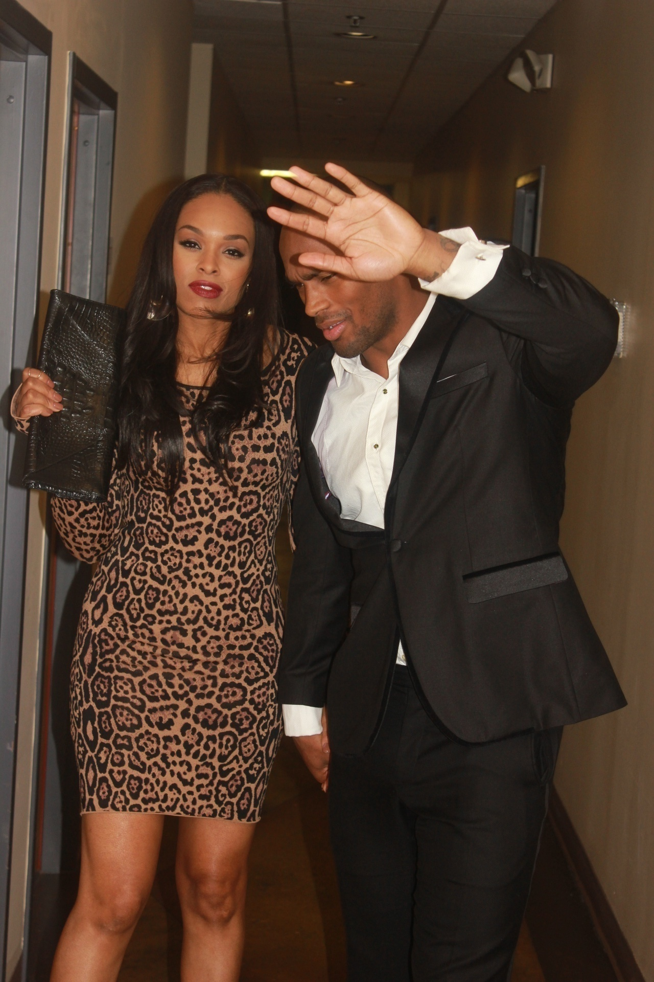 Demetria McKinney and Keith Carlos on set of Demetria McKinney's video shoot - Trade It All