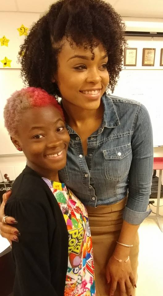 Brilann Coleman and Demetria McKinney attend Social Media Responsibility Conference - Hickory Ridge Middle School