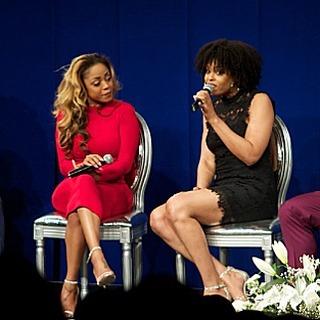 Latavia Roberson and Demetria McKinney attend The Phill Taitt Show - Dream Reach Inspire