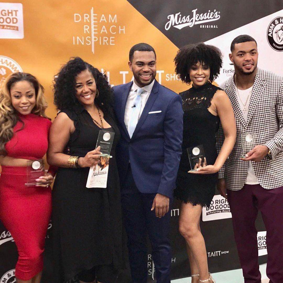 Latavia Roberson, Miko Branch, Phill Taitt, Demetria McKinney and Johnathan Casillas attend The Phill Taitt Show - Dream Reach Inspire