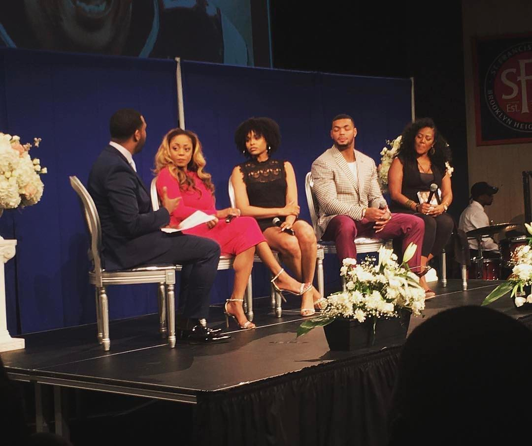 Demetria McKinney, Latavia Roberson, Johnathan Casillas and Miko Branch attend The Phill Taitt Show - Dream Reach Inspire