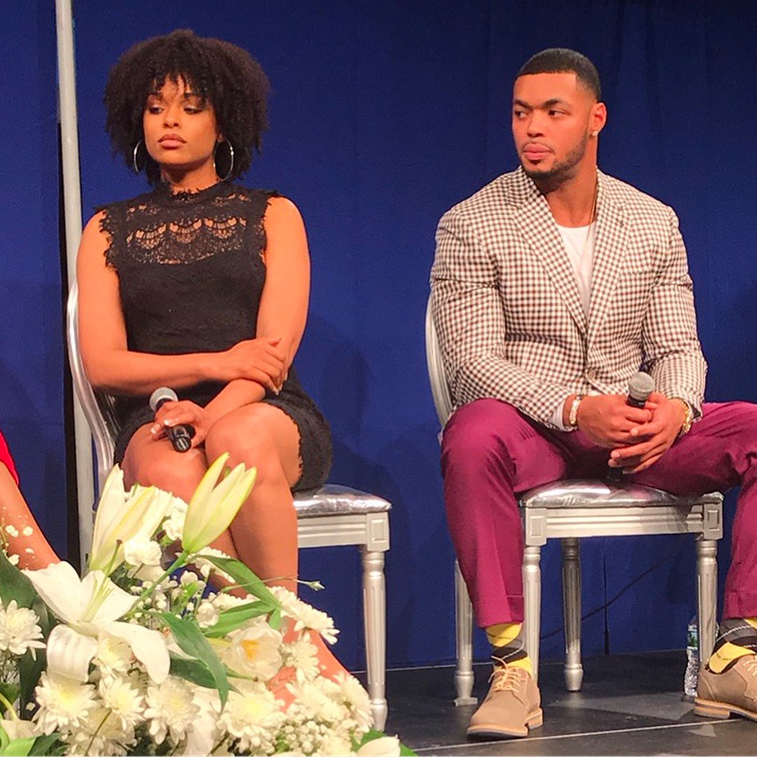 Johnathan Casillas and Demetria McKinney attend The Phill Taitt Show - Dream Reach Inspire