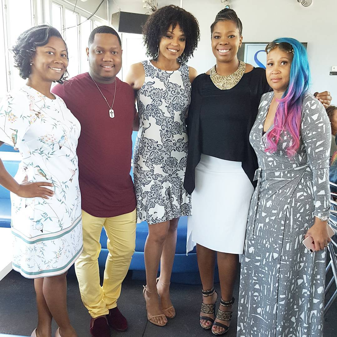 "Xaviera, Que Jackson, Jasmine Crowe and Anje Collins attend Demetria McKinney's 2nd Annual ""Because Of You"" Pre-Mothers Day Brunch"
