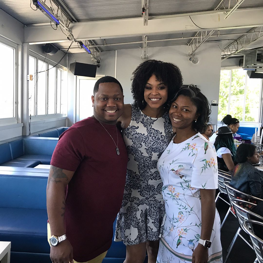 "Que Jackson and Xaviera attend Demetria McKinney's 2nd Annual ""Because Of You"" Pre-Mothers Day Brunch"