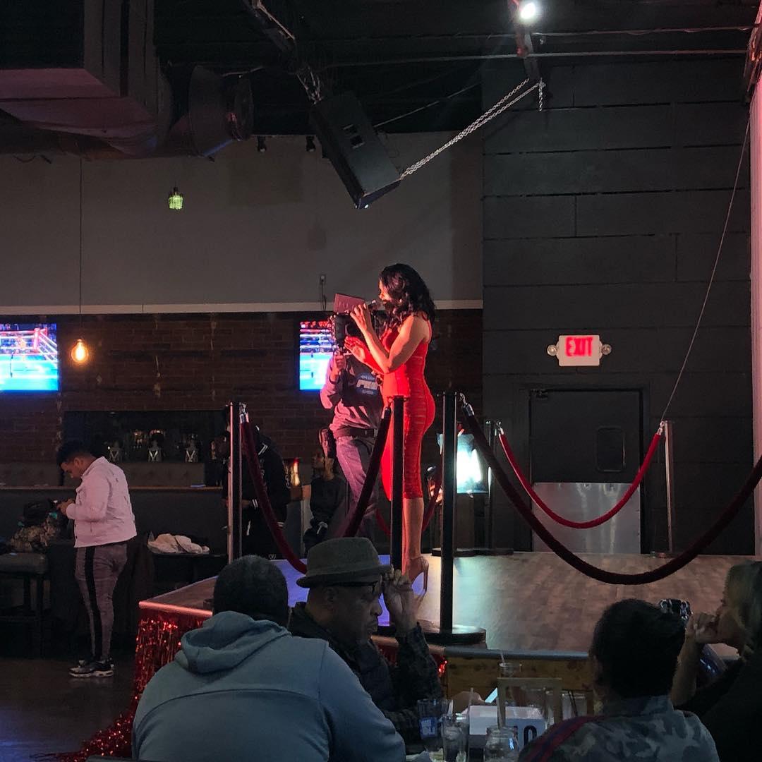 "Demetria McKinney on set of her music video ""Everything"" on December 8, 2018"