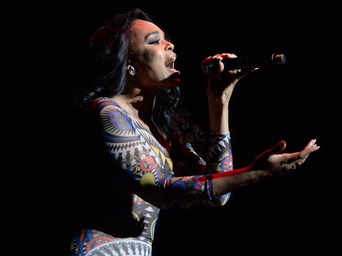 Demetria McKinney perform at the R. Kelly: The Buffet Tour - Century Link Center