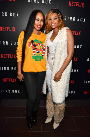 Dawn Halfkenny and Demetria McKinney attend 'Bird Box' Atlanta screening at Cinebistro Town Brookhaven