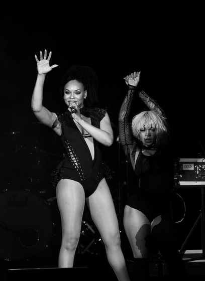 Demetria McKinney perform at Charlie Wilson's Mother's Day Weekend Celebration - Bojangles' Coliseum