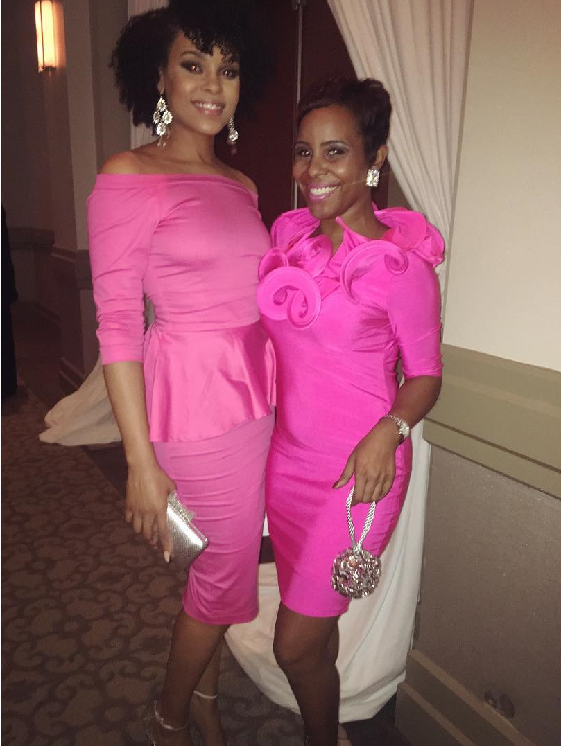 "Demetria McKinney and Shay McCray attend the 4th Annual ""50 Shades of Pink"" Charity Fashion Show"