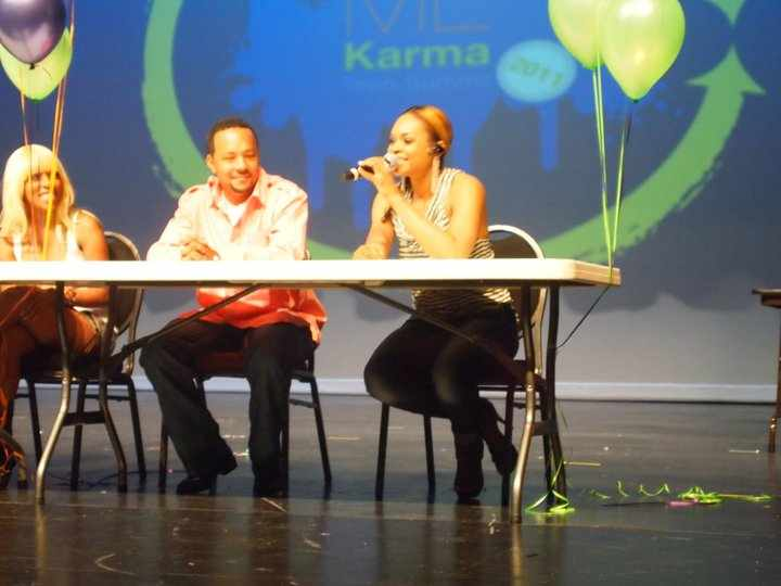 "Demetria McKinney & Panel At The ""Show Me Karma"" Event"