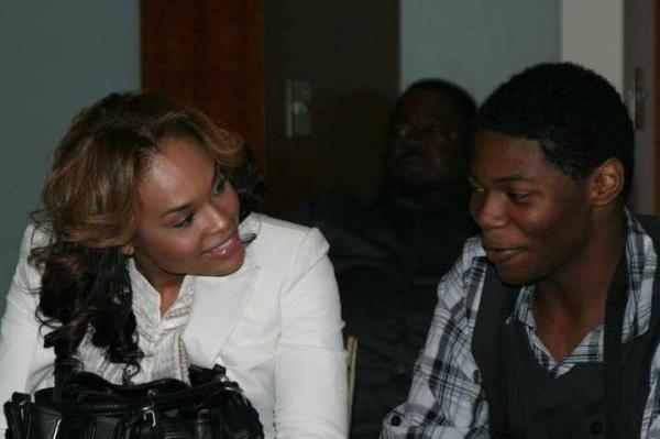 """Demetria McKinney & Lil Zan (R.I.P) """"Granting One Wish At A Time"""" Dee Dee just Gave Him A Gift Package :)"""