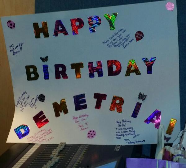 Demetrian birthday poster for Demetria!